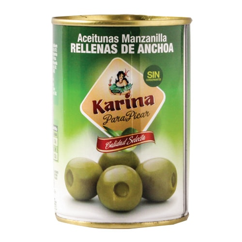 Green Olives Stuffed with Anchovies