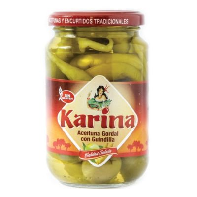 Karina Queen Olives with Chili Pepper